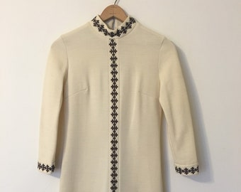 1970s Bleeker Street Long Sleeve Embroidered Dress