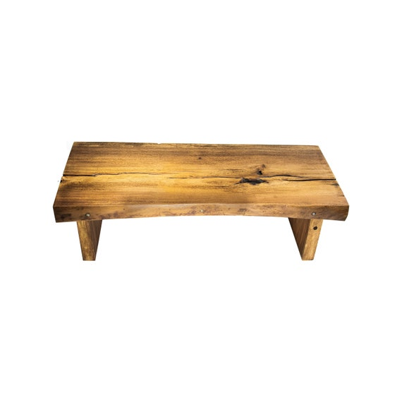 Marvelous Rectangular Live Edge Coffee Table Bench Beautiful Wood Slab Table With Live Edge Wood Top And Base Ibusinesslaw Wood Chair Design Ideas Ibusinesslaworg