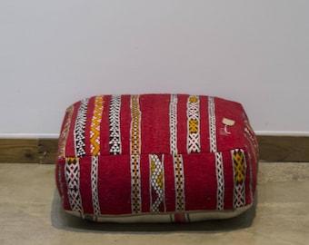 Vintage moroccan floor pouf pillow low wearing