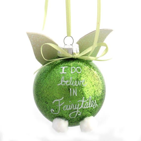 Tinkerbell Christmas Ornament.Tinkerbell Peter Pan Disney Inspired Christmas Ornament