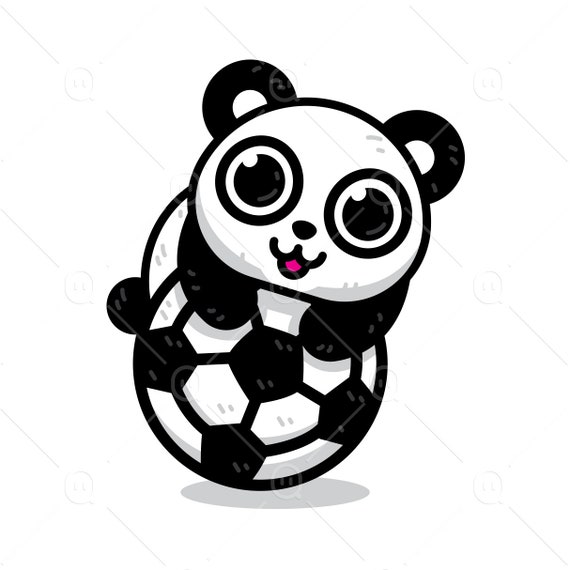 Fussball Panda Tier Sport Fussball Clipart Susse Panda Mit Einem Fussball