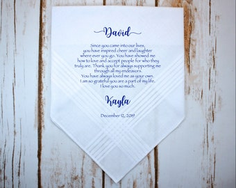 dc2b37cba9a0 Stepfather of the Bride Gift Handkerchief