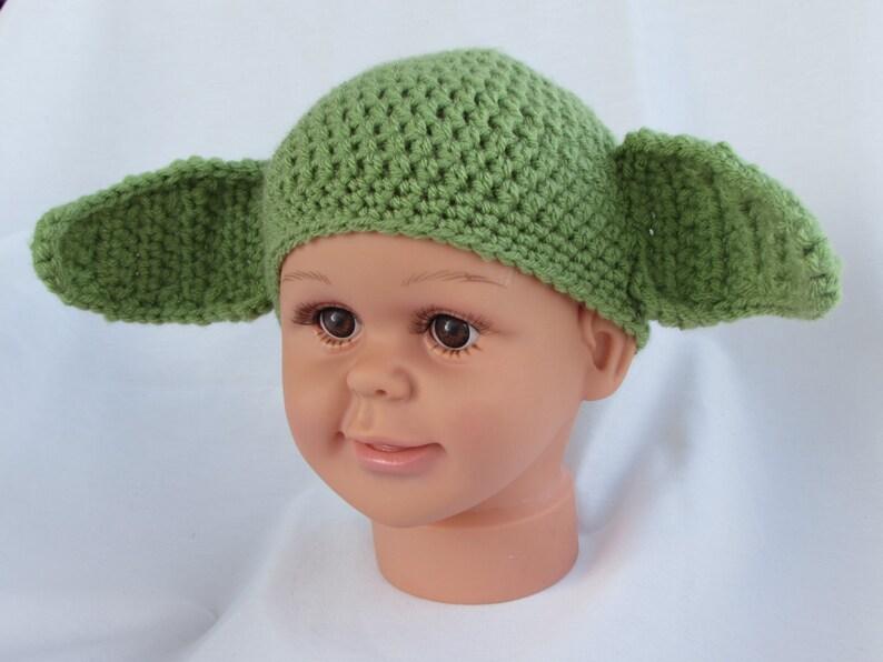 5e28a698b7360 Yoda Star Wars Hat. Handmade Crocheted Child s Size Small.