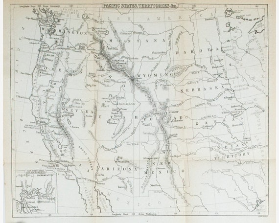 1867 Map of United States - Original Antique Map - Edward Hall - 11x10 Map Of The United States In on map of united states in 1865, map of united states in 1864, map of united states in 1875, map of united states in 1900, map of united states in 1861, map of united states in 1862, map of united states in 1869, map of united states in 1868, map of united states in 1860, map of united states in 1870,