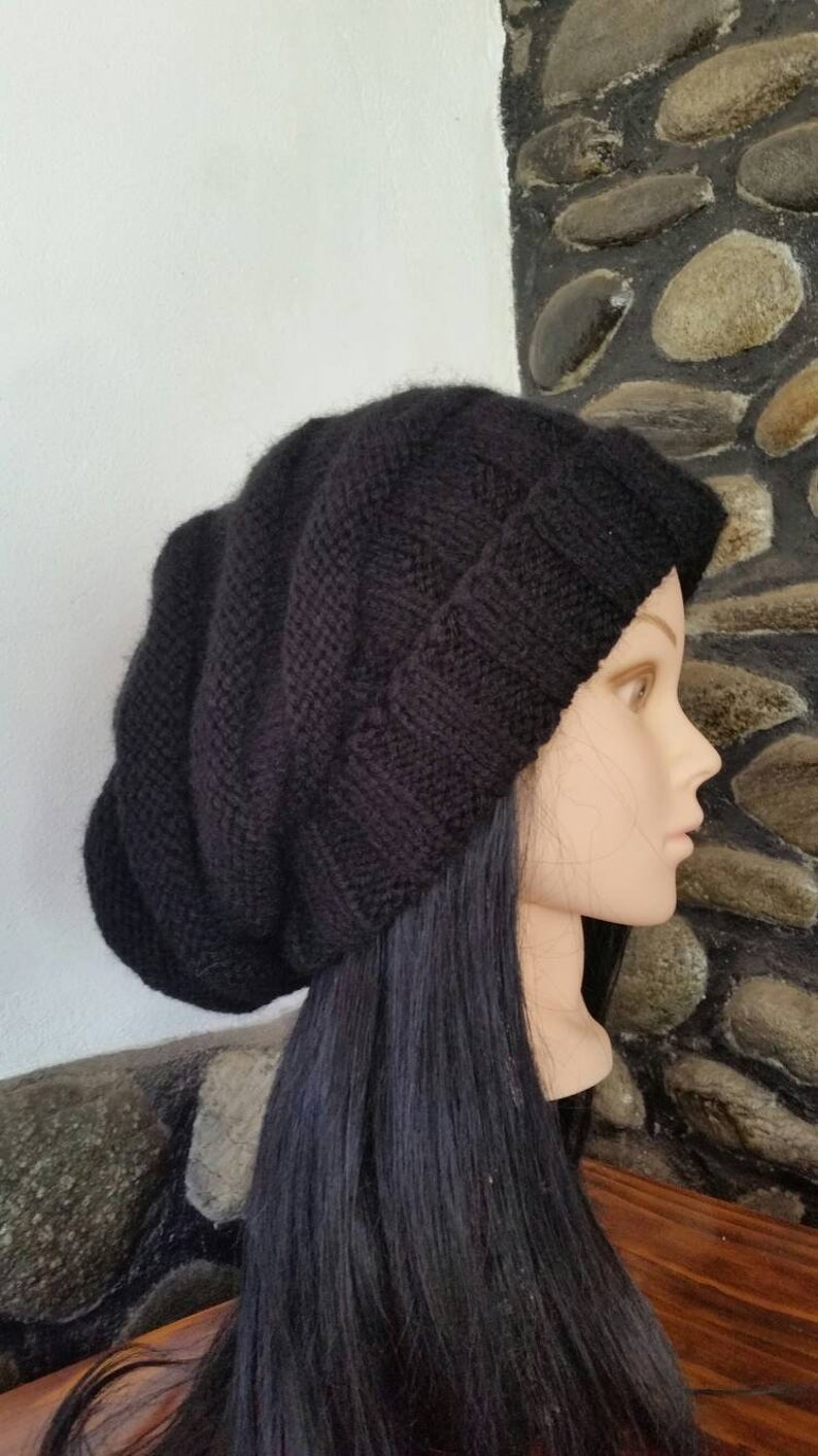 9dc2b513c47 Black women chunky knit hat Christmas giftsoversized hat