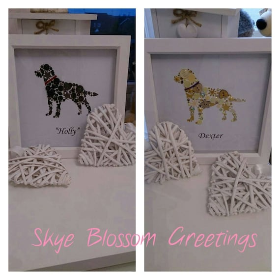Personalised Labrador Box Frame Gift For Dog Lovers Made Etsy