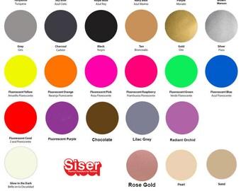 "Siser Easyweed HTV 12"" x 12"" (30x30cm) Sheet - 54 Vivid Colors Available, Tshirt Vinyl, Iron on Vinyl, Heat Transfer Vinyl, HTV Vinyl Sheets"