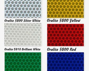 Highly Reflective Vinyl Sheets - Oralite 5800 - 4 Sheet Sizes and 6 Colors Available. Decal Vinyl, Self Adhesive Vinyl, Craft Vinyl