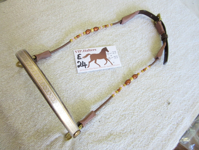 Silver or Gold Chin Chain for an Arabian or Miniature Horse Cable Show Halter