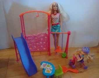 2f6d3f702ac barbie and kelly school swing playset complete