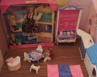95ec87022af Mattel barbie teacher  nursery school playset bundle