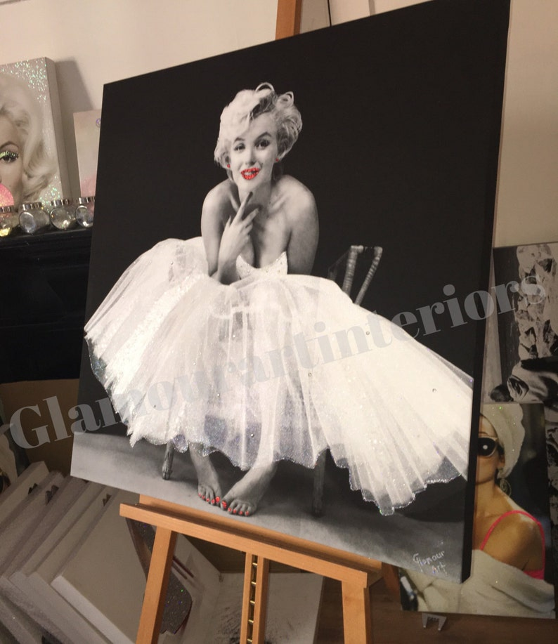 35c13d2a2a9 Marilyn Monroe Ballerina Glitter and Crystal wall canvas