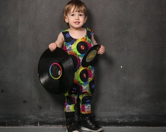 Romper/overalls for kids, colored vinyl