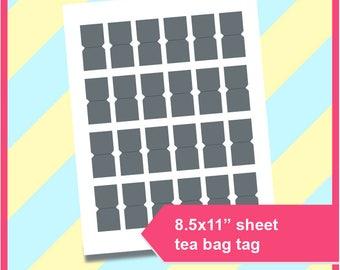 instant download fancy tea bag envelope template microsoft etsy