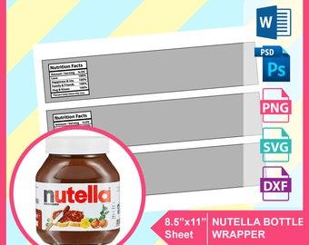Nutella label   Etsy