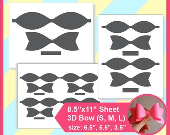 picture regarding Bow Printable identified as Bow template Etsy
