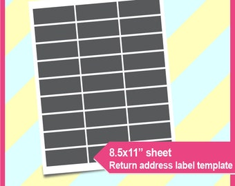 Return Address Label Template Microsoft Word Doc PSD PNG And SVG Dxf Formats 85x11 Sheet Printable 016