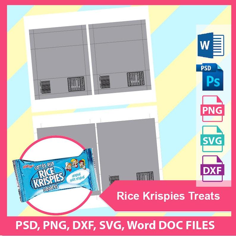 22g Rice Krispies Treats Template Microsoft word doc PSD ...