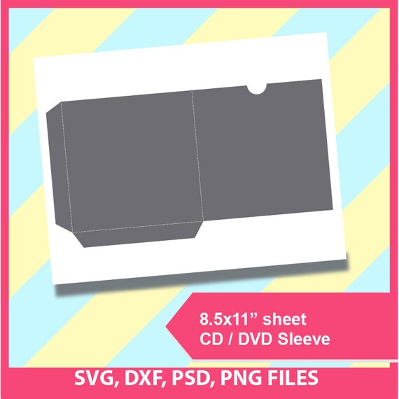 cd sleeve dvd sleeve template microsoft word doc psd png etsy