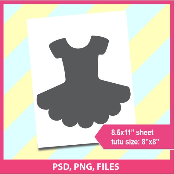 instant download tutu template cake topper microsoft word etsy