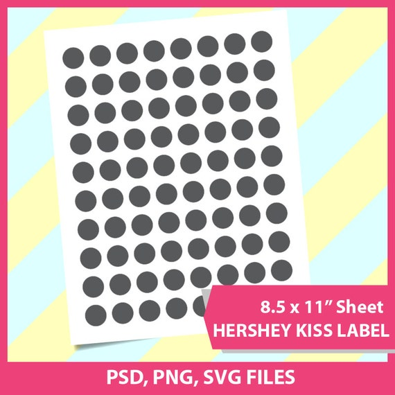 Instant Download Hershey Kiss Template Microsoft Word Doc Psd Png And Svg Dxf Formats 8 5x11 Sheet Printable 019