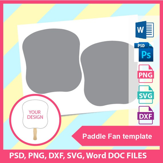 instant download church fan paddle fan template psd png etsy