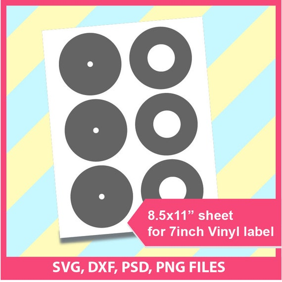 7 inch vinyl label template psd png and svg formats etsy image 0 maxwellsz