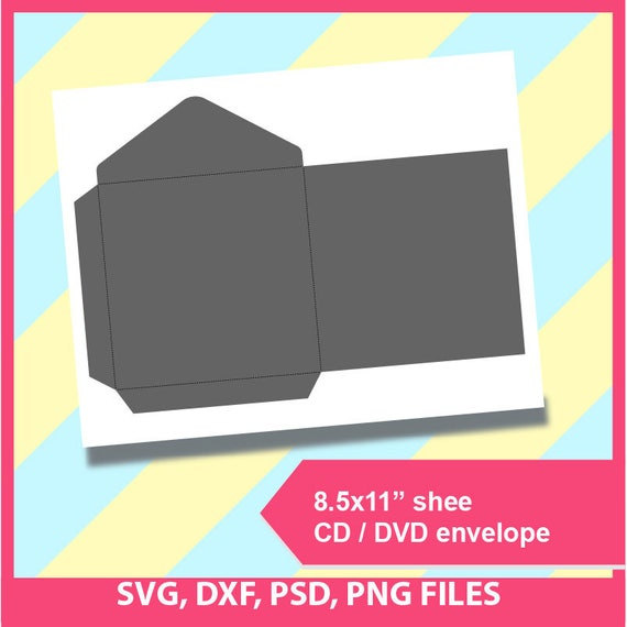 Cd Envelope Dvd Envelope Template PSD PNG And SVG Dxf
