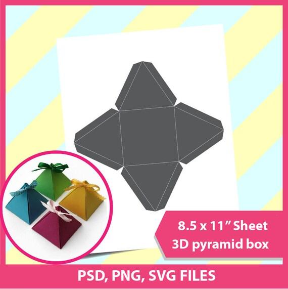 pyramid box triangle gift box template microsoft word doc