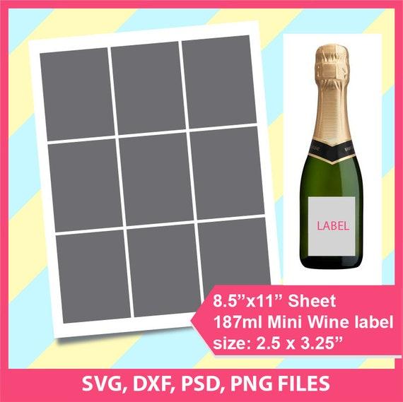 187ml Mini Bottle Label Champagne