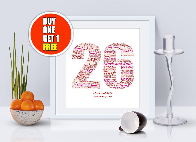26th Wedding Anniversary Gift: 26th Anniversary 26th Anniversary Gift Twenty Sixth