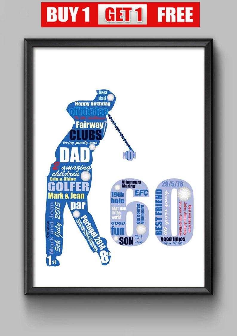 60th Birthday Gift For Golfer Idea Dad
