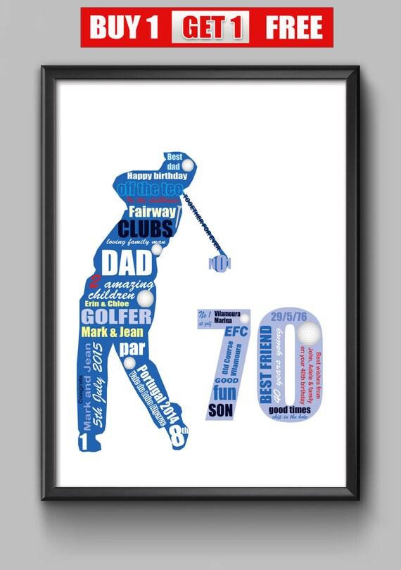 70th Birthday Gift For Golfer Dad