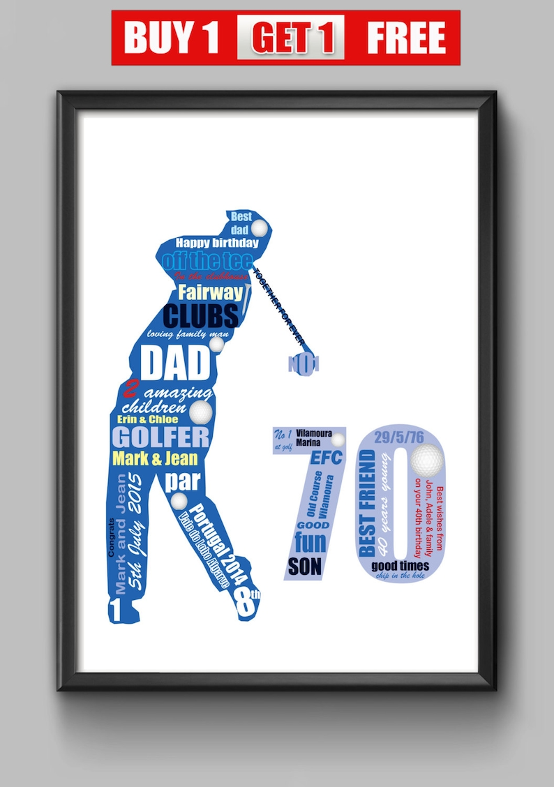 70th Birthday Gift For Golfer Dad