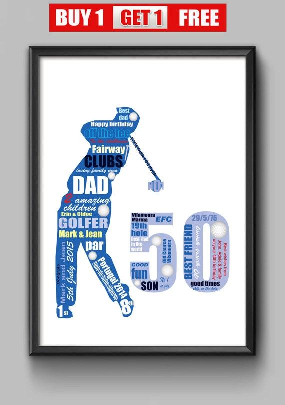 50 Geburtstag Geschenk Fur Golfer Personalisiertes Geschenk Etsy