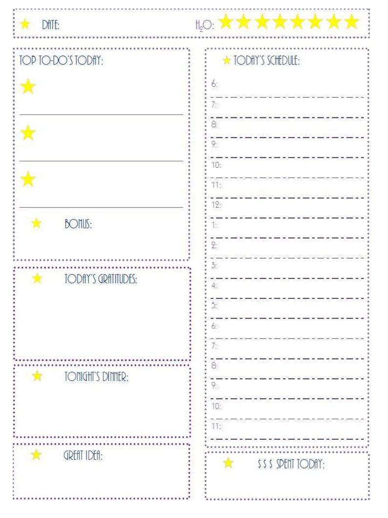 photo regarding Daily Docket Printable known as Printable Day-to-day Docket Day by day Planner Routine PDF Printable Calendar Weekly Dinner Planner In the direction of Do Lists, Every day Planner, Printable Planner
