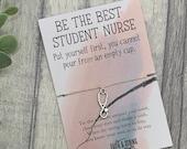 Student nurse bracelet, nurse appreciation gift, essential worker gift, nurse gift, nurses day gift, nurses appreciation week