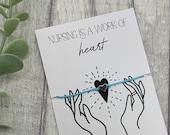 Nursing bracelet, nurse appreciation gift, essential worker gift, nurse gift, nurses day gift, nurses appreciation week