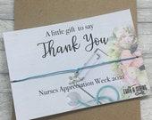 Nurses Week Bracelet, nurses week 2021, nurse appreciation gift, nurse gift, nurses appreciation week gift, nurse thank you card