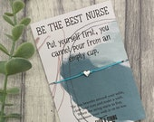Best nurse bracelet, best nurse gift, essential worker gift, nurse gift, nurses day gift, nurses appreciation week