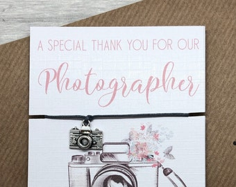 Wedding Vendor Thank You For Capturing Our Day .World/'s Best Photographer Card Wedding Photographer Thank You Card Photographer Thank You.