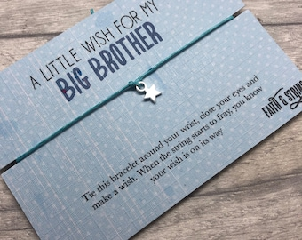 Big Brother Gift Friendship Bracelet For Him Little Boy Birthday New Baby