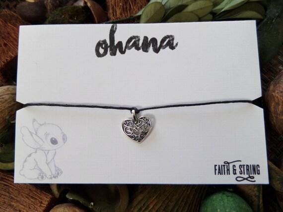 Lilo And Stitch Ohana Friendship Bracelet Etsy