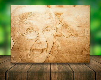 Wood Photo Transfer Etsy