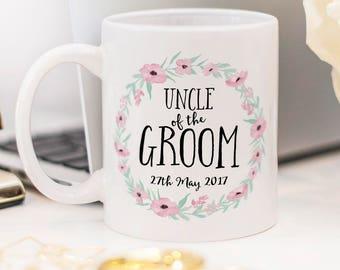 Uncle of the Groom mug, beautiful wedding favor!