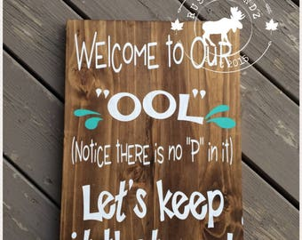 Pool Sign Etsy