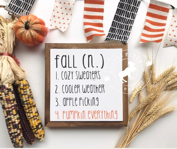 Fall Wood Sign Fall Sign Fall Definition Fall