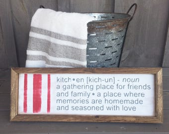 Kitchen wood sign // farmhouse Kitchen Sign // Kitchen Definition // Kitchen Decor // farmhouse decor // kitchen wall decor