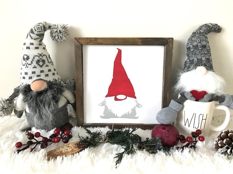 Christmas Gnome Decor.Christmas Gnome Gnome Gnome Decor Gnome Sign Christmas Sign Christmas Decor Rae Dunn Display Rae Dunn Accessory