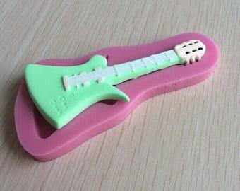 Guitar Sugarcraft Fondant Silicone Mould